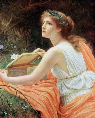 Pandora, with her box