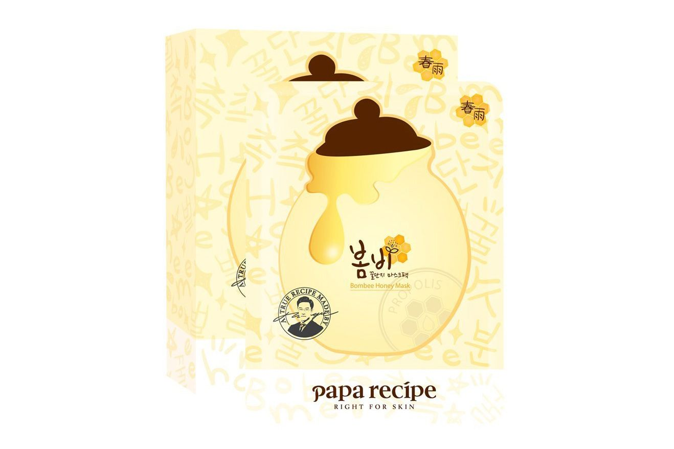 Papa Recipe Bombee Honey Mask Pack, 10 Sheets