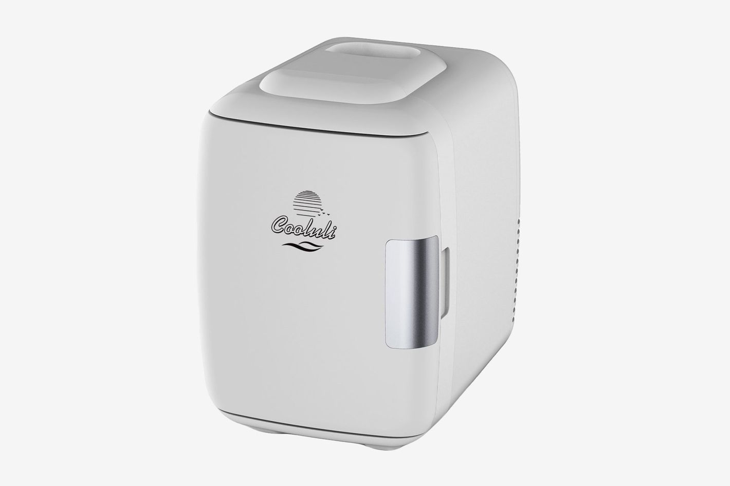 A small white mini-fridge