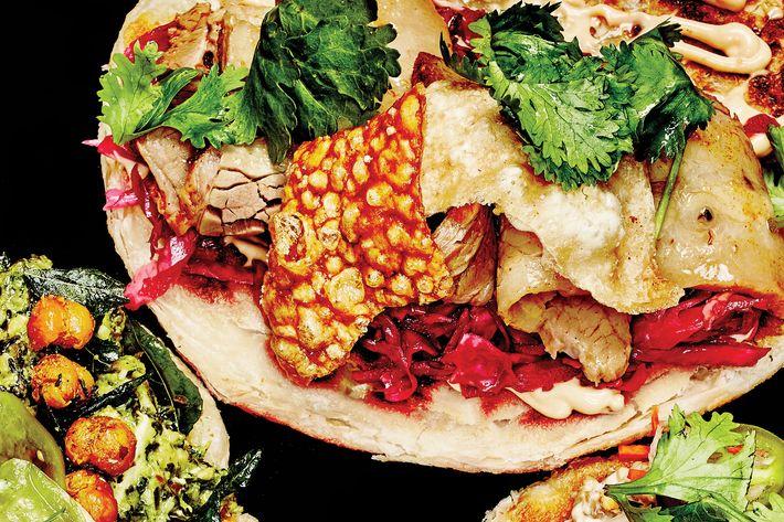 Goa Taco's paratha tacos.