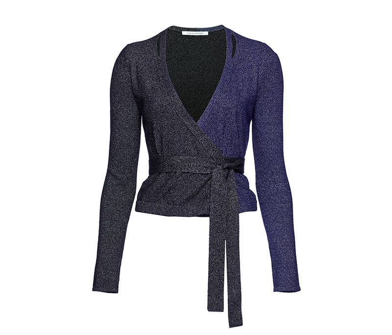 Lurex Wrap Cardigan