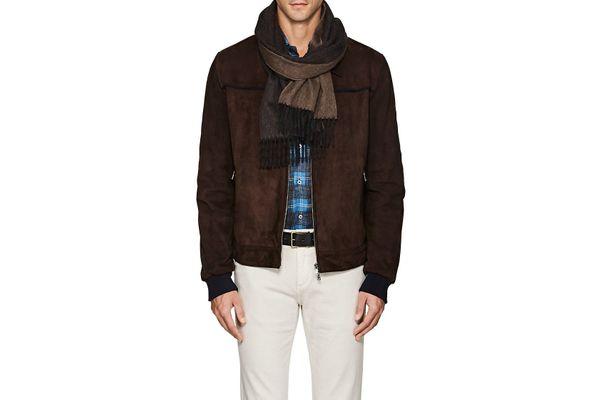 Drake's Reversible Wool Angora Scarf