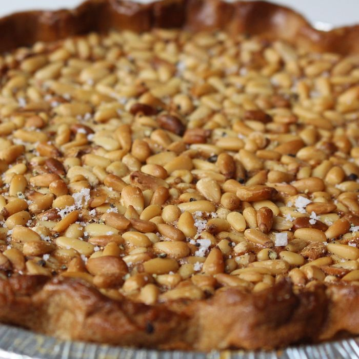 The brand-new pine-nut pie.