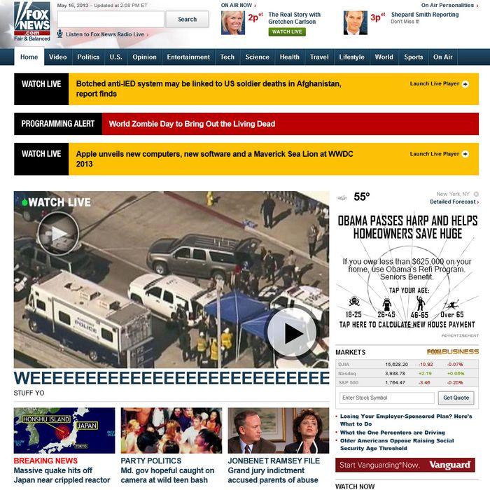 Fox News Website Hacked or Full of Nonsense