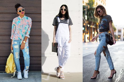 14 Ways to Wear Your Ripped Jeans Through Fall - The Cut