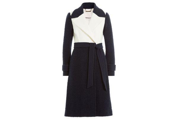 DIANE VON FURSTENBERG Two-Tone Wool Coat