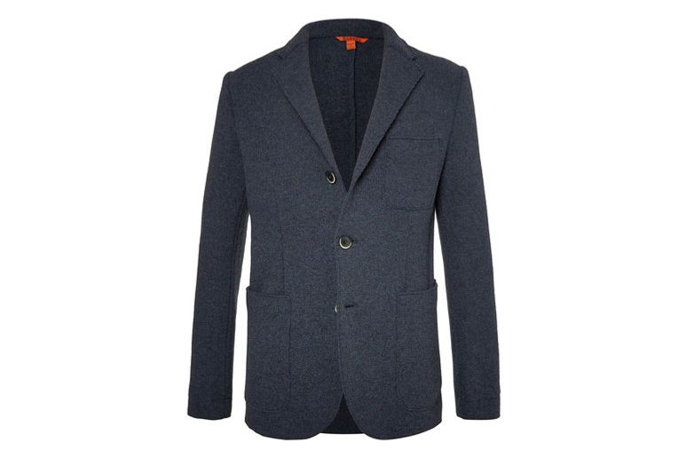 Barena Blue Slim-Fit Unstructured Wool-Blend Blazer
