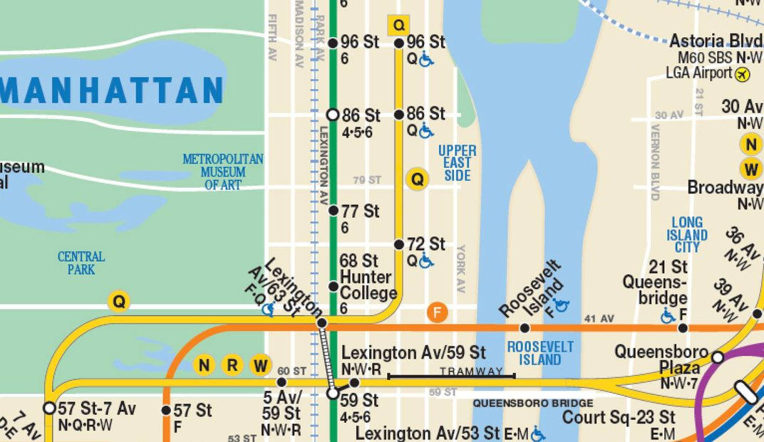 Upper West Side Subway Map