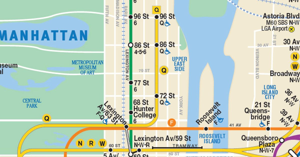 This New NYC Subway Map Shows The Second Avenue Line So It Has To - New york subway map with streets