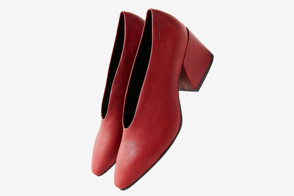 Vagabond Olivia Red Leather Heel