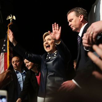 Hillary Clinton Holds Campaign Event At New York City's Apollo Theater