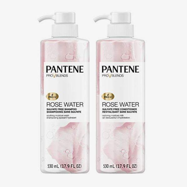 Pantene Shampoo and Sulfate Free Conditioner Kit, Pro-V Blends, Soothing Rose Water