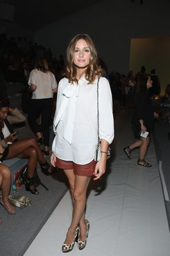 Actress Olivia Palermo attends the Tibi Spring 2012 fashion show during Mercedes-Benz Fashion Week at The Stage at Lincoln Center on September 13, 2011 in New York City.