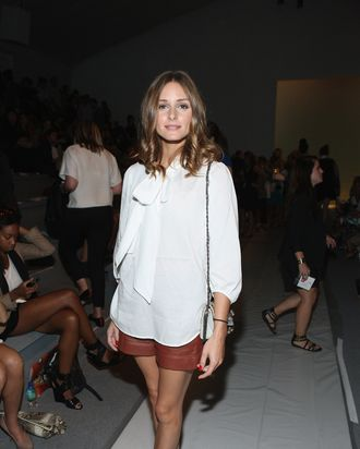 Olivia Palermo at the Tibi show yesterday.
