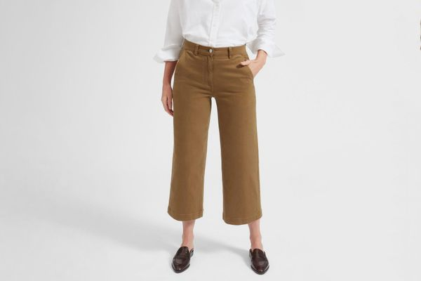 Everlane the Wide Leg Crop Pant in Short Length