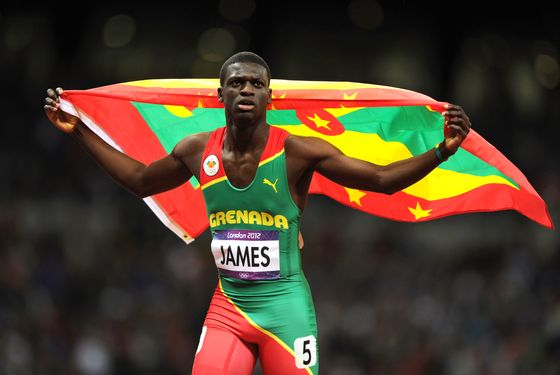 LONDON, ENGLAND - AUGUST 06:  Kirani James of Grenada celebrates after winning the gold medal in the Men's 400m final on Day 10 of the London 2012 Olympic Games at the Olympic Stadium on August 6, 2012 in London, England.  (Photo by Michael Regan/Getty Images)