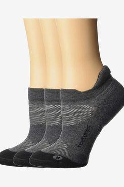 Feetures Unisex Elite Max Cushion No-Show Tab Sock, 3-Pack
