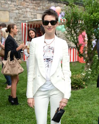Actress Anne Hathaway attends the Stella McCartney Spring 2012 Presentation