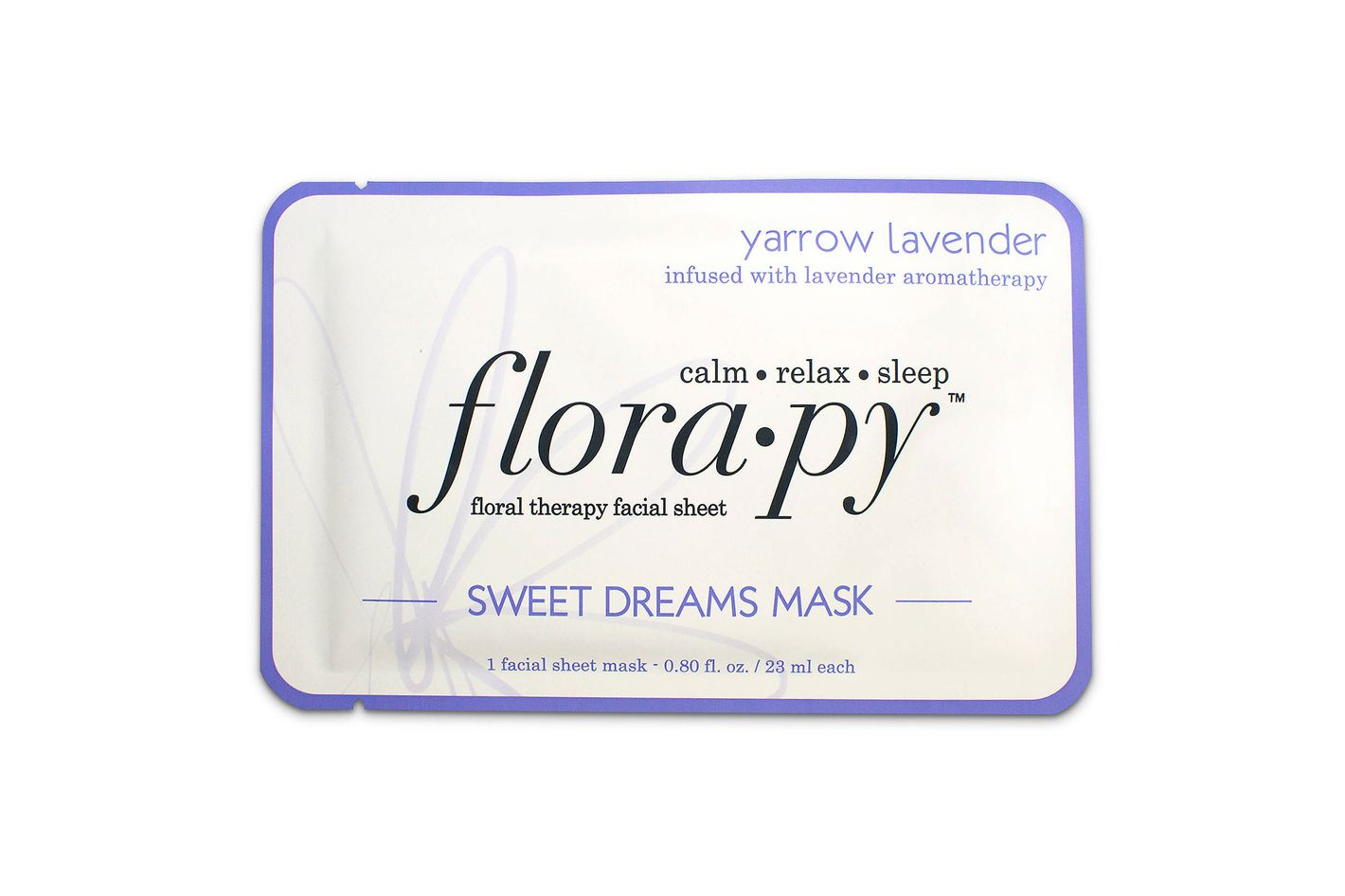 Florapy Facial Sheet Mask, Sweet Dreams Yarrow-Lavender