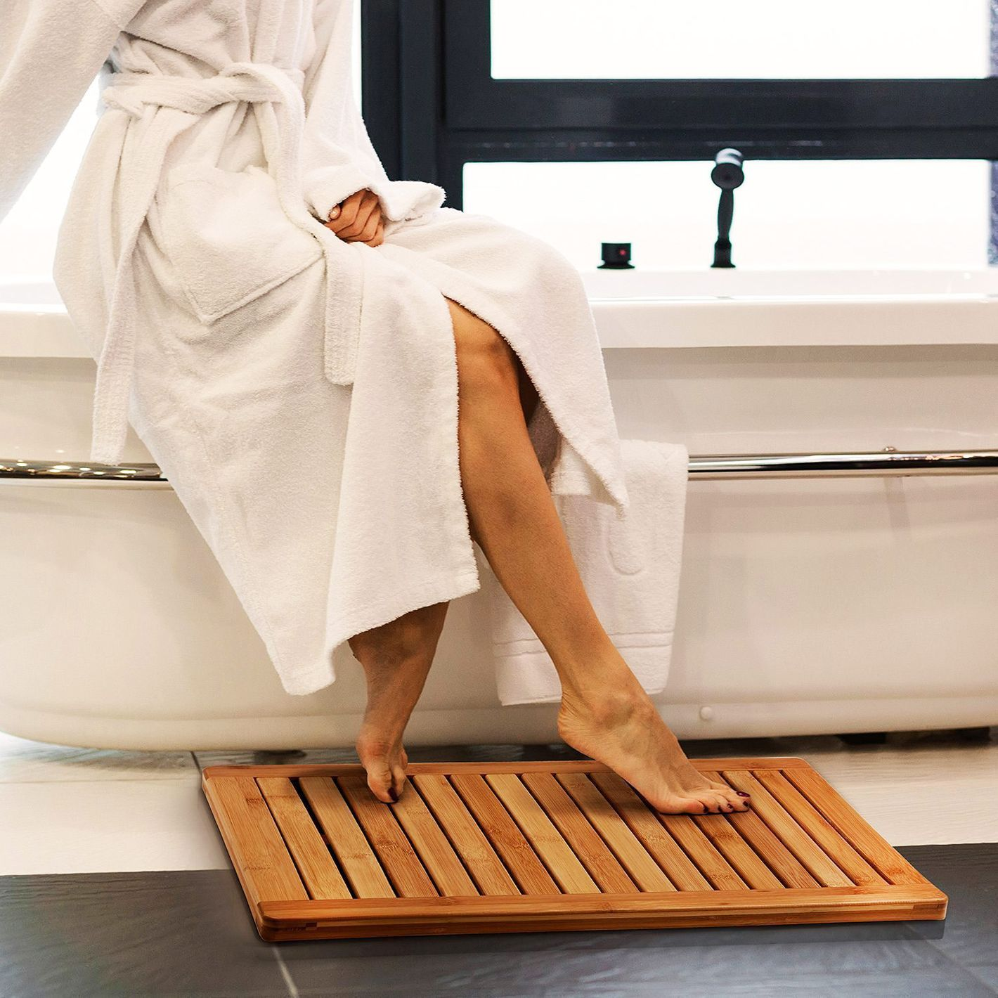 Natural Bamboo Bath Mat