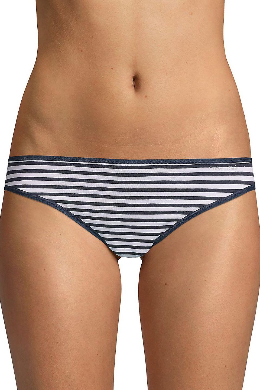 Calvin Klein Form Bikini, Navy Stripe