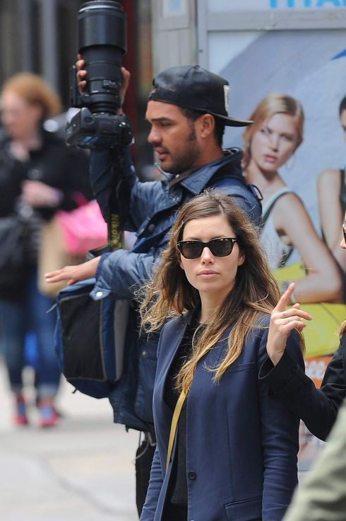 Jessica Biel is seen out in Manhattan on May 06, 2013 in New York City.