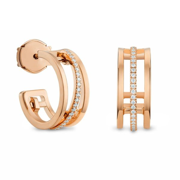 De Beers Horizon Hoop Earrings in Rose Gold