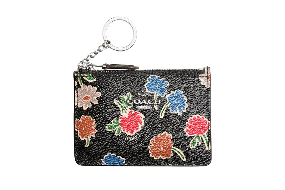 Coach Mini Wallet in Daisy Field Print Coated Canvas