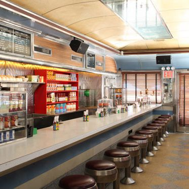 The railcar-style diner first opened in 1952.