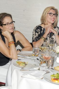 "Debra Winger, Christine Baranski==HBO DOCUMENTARY FILM'S Sheila Nevins, Tina Brown, Katie Couric and Ann Curry Host a Lunch for ""GLORIA: IN HER OWN WORDS""==La Grenouille, NYC==August 10, 2011==?Patrick McMullan==Photo - CLINT SPAULDING/PatrickMcMullan.com== =="