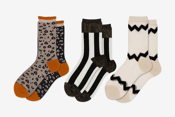 Hansel From Basel Set of Three Crazy Printed Socks