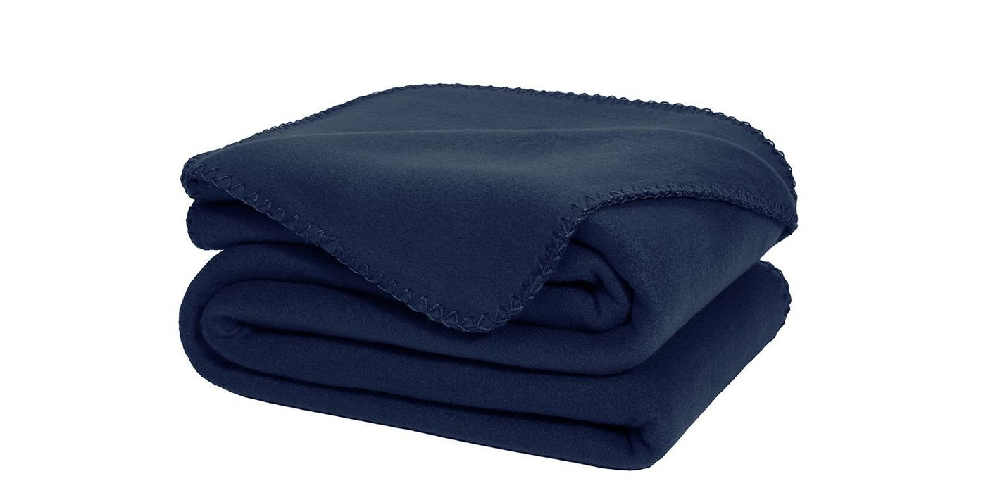 DOZZZ Super Soft Fleece Throw Blanket, Navy Blue