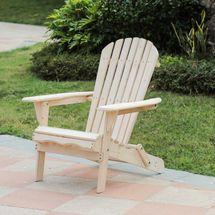 Natural Wood Adirondack Chair