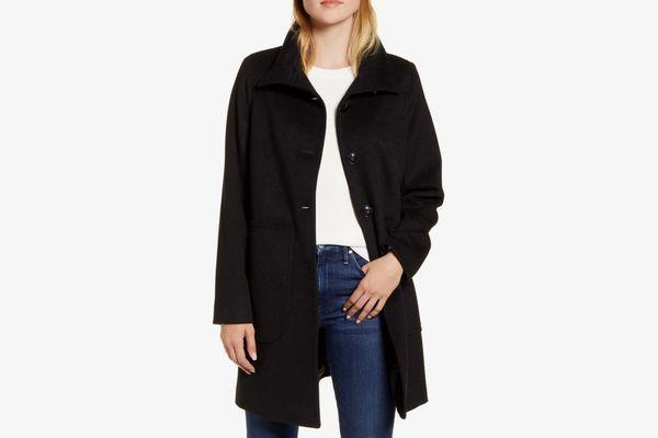 Kristen Blake Studio Collection Wool Walking Coat