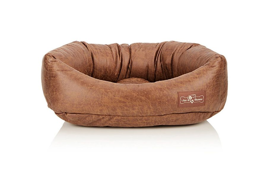 Jax and Bones Faux-Leather Small Napper Dog Bed