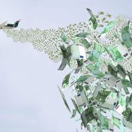 Airplane Dropping Money.
