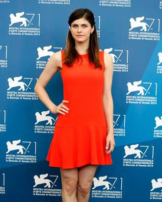 VENICE, ITALY - SEPTEMBER 04: Actress Alexandra Daddario attends the 'Burying The Ex' photocall during the 71st Venice Film Festival on September 4, 2014 in Venice, Italy. (Photo by Elisabetta A. Villa/WireImage)