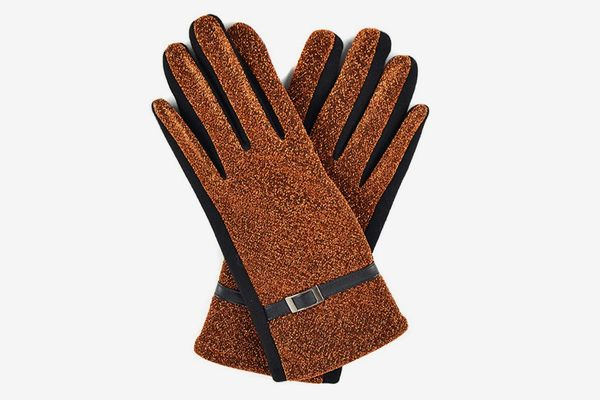 Nollia Women's Sparkly Touchscreen Winter Gloves