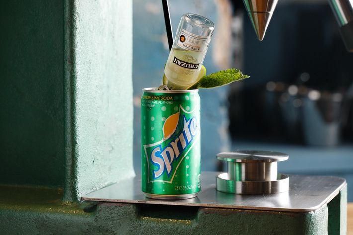 Mojito: Cruzan White rum, Sprite, lime, and mint.