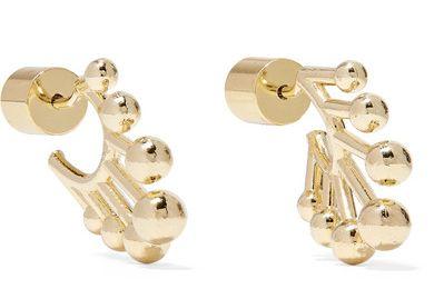 Jennifer Fisher DNA Huggie gold-plated hoop earrings