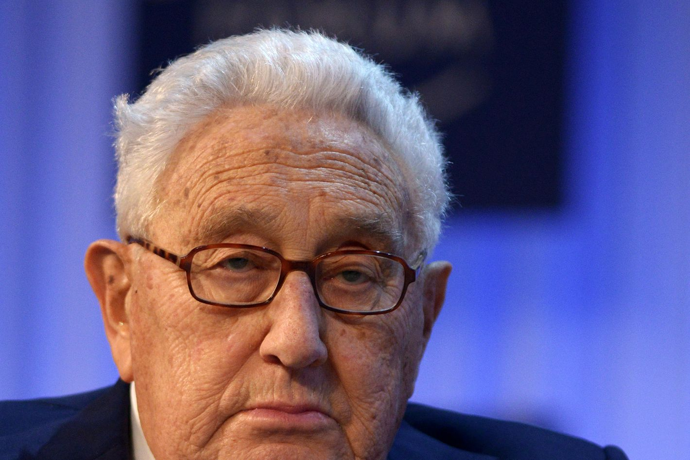 Former US secretary of state Henry Kissinger attends a a session of the World Economic Forum Annual Meeting 2013 on January 24, 2013 at the Swiss resort of Davos.