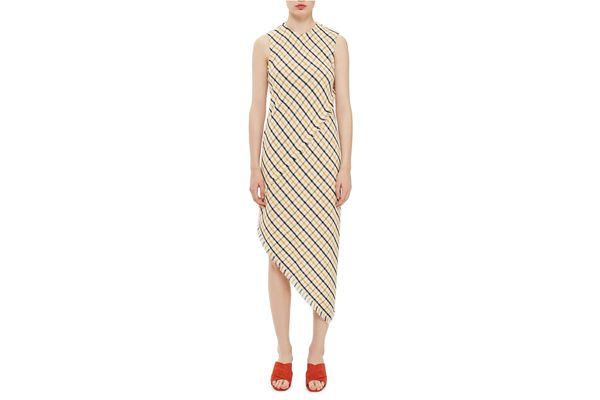 Topshop Boutique Slash Back Asymmetrical Dress