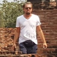 *EXCLUSIVE* Leonardo DiCaprio opts for a touristy fanny pack while visiting Ayutthaya Historical Park