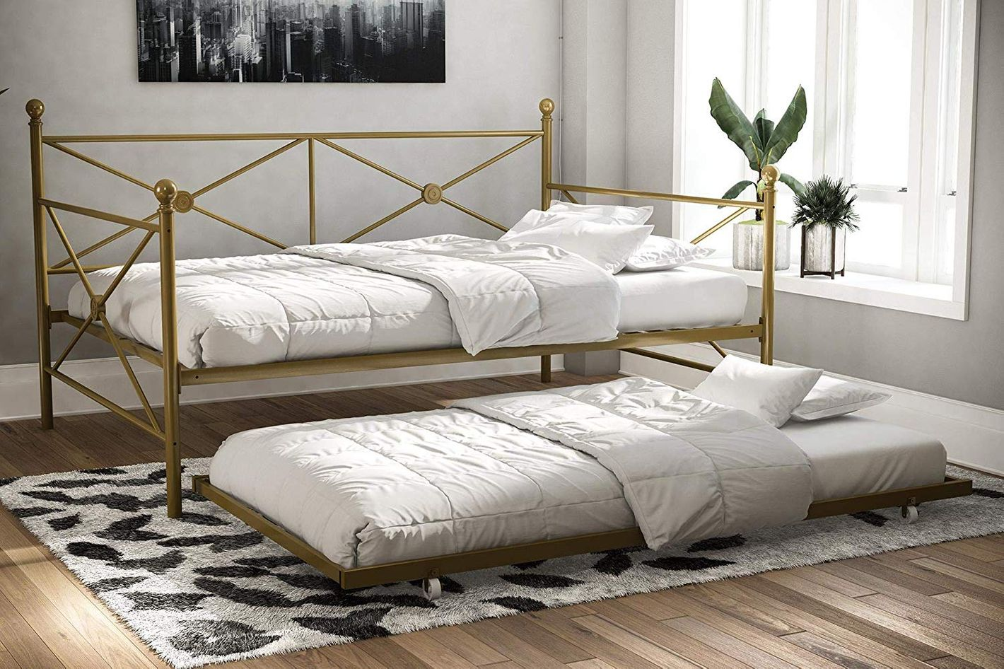 DHP Lubin Full Daybed, Gold
