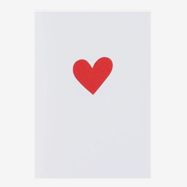 Red Love Heart Valentine's Card