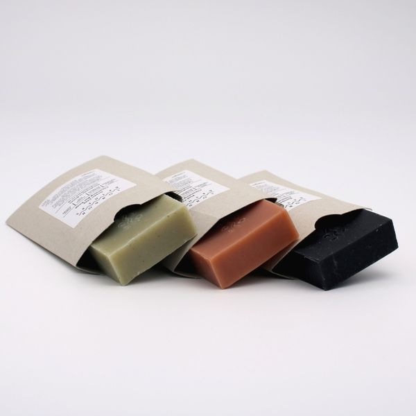 Clay/Charcoal Cleansing Bar Trio