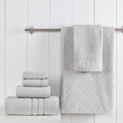 Modern Threads Jacquard Turkish Made 6-Piece Towel Set - Mineral