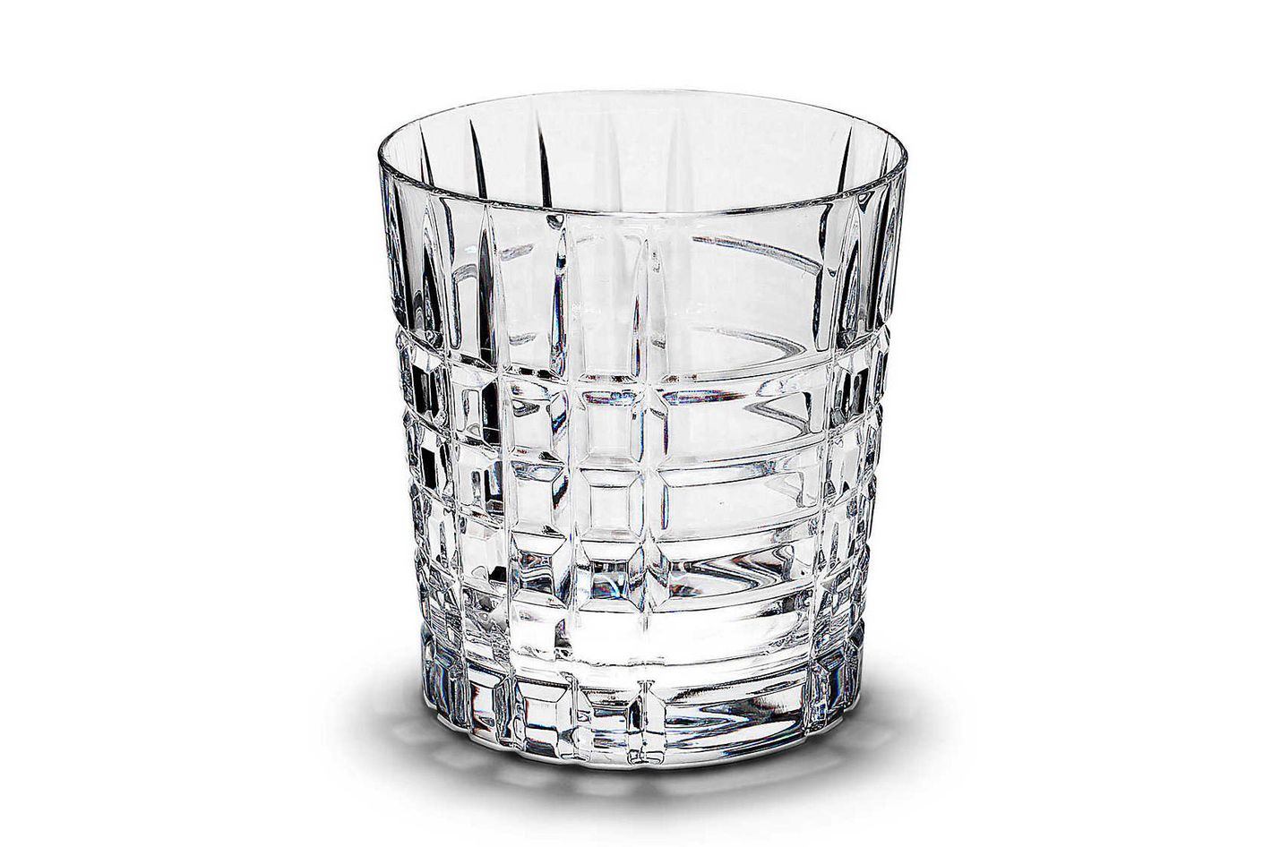Tiffany & Co. Plaid Double Old-Fashioned Glass