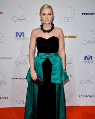 TORONTO, ON - FEBRUARY 01: Actress Elisha Cuthbert arrives at the 1st Annual Canadian Arts and Fashion Awards at the Fairmont Royal York Hotel on February 1, 2014 in Toronto, Canada. (Photo by George Pimentel/WireImage)
