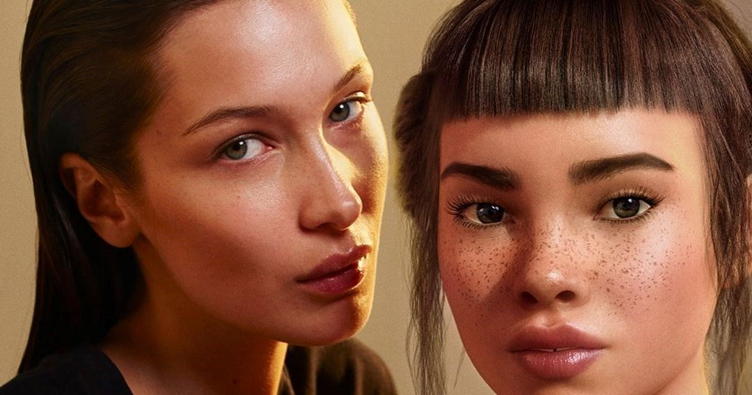 Bella Hadid Made Out With a CGI Influencer